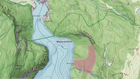 Der gesperrte Bereich liegt am Ostufer des Königssees.
