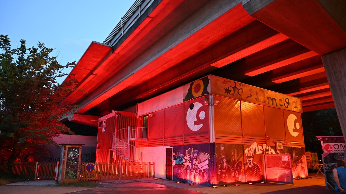 An der Night of Light hat auch das Omega teilgenommen und damit auf die Situation der Kulturbranche aufmerksam gemacht.