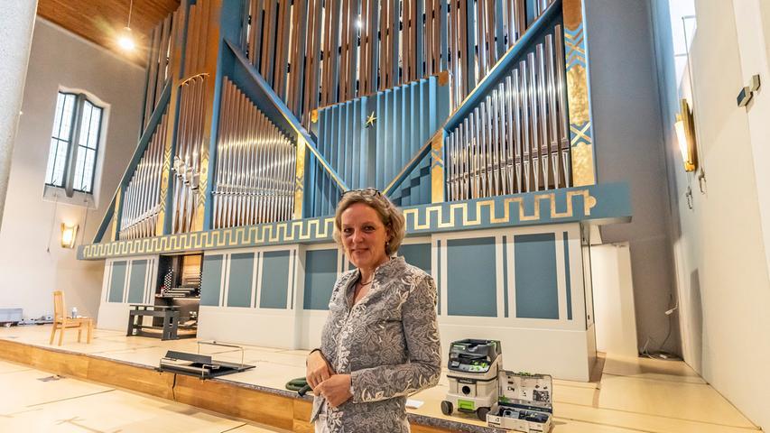 Bei den Orgelkonzerten im Rahmen der Festwoche agiert Kantorin Susanne Hartwich-Düfel selbst am Spieltisch.