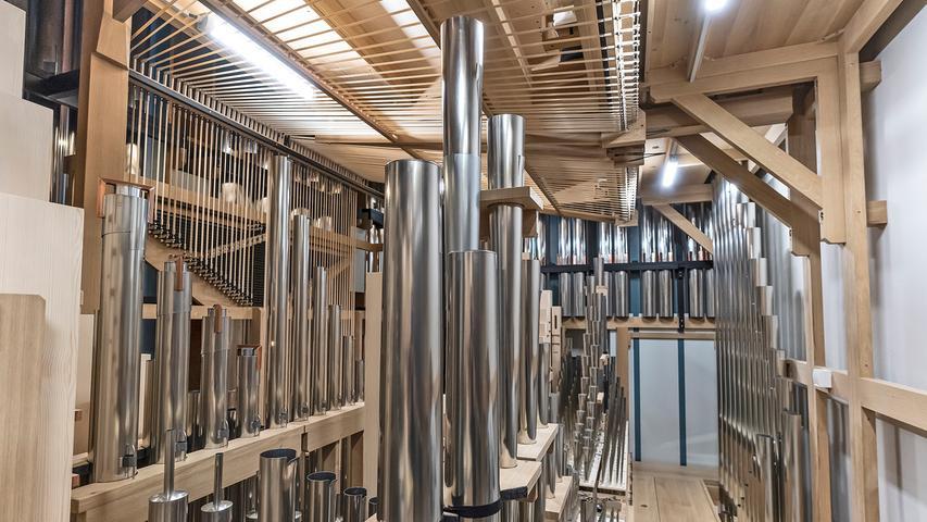 Das Innere der neuen Klais-Orgel können sich Interessierte am Dienstag, 21. September, anschauen.