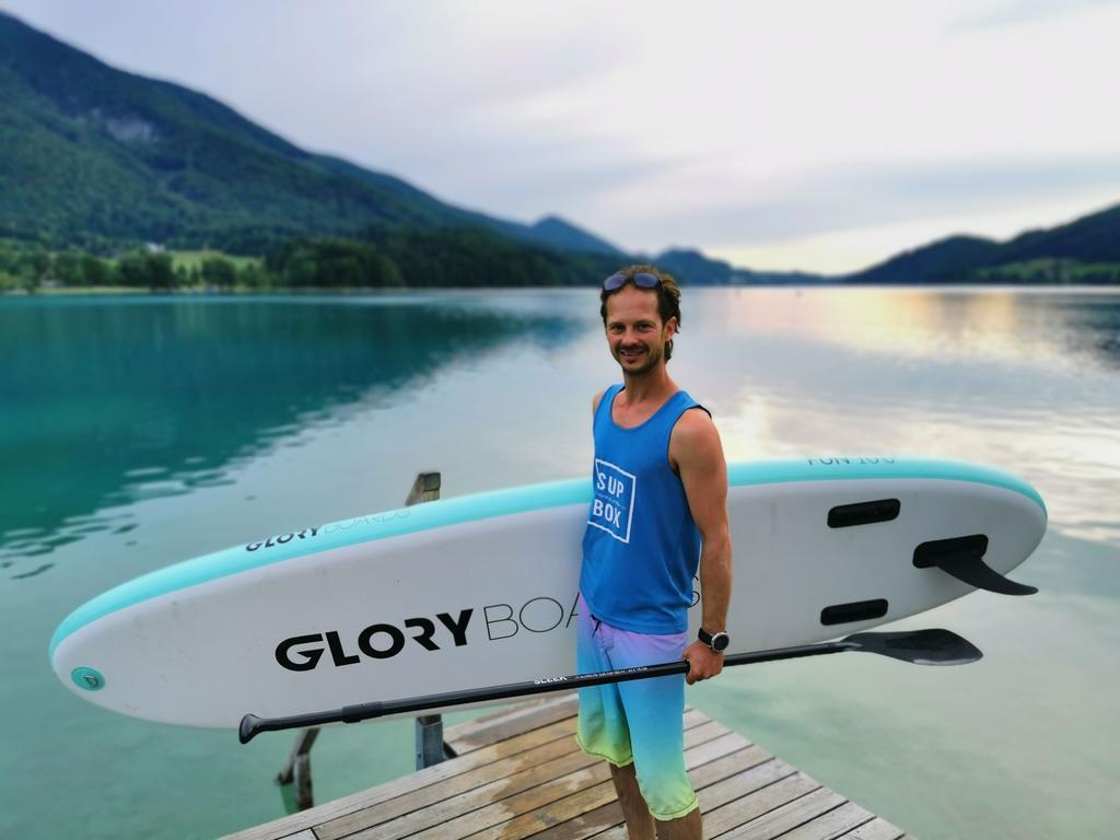 Experte für das sanfte Gleiten auf dem Wasser: Stand up Paddler Rainer Schmid.