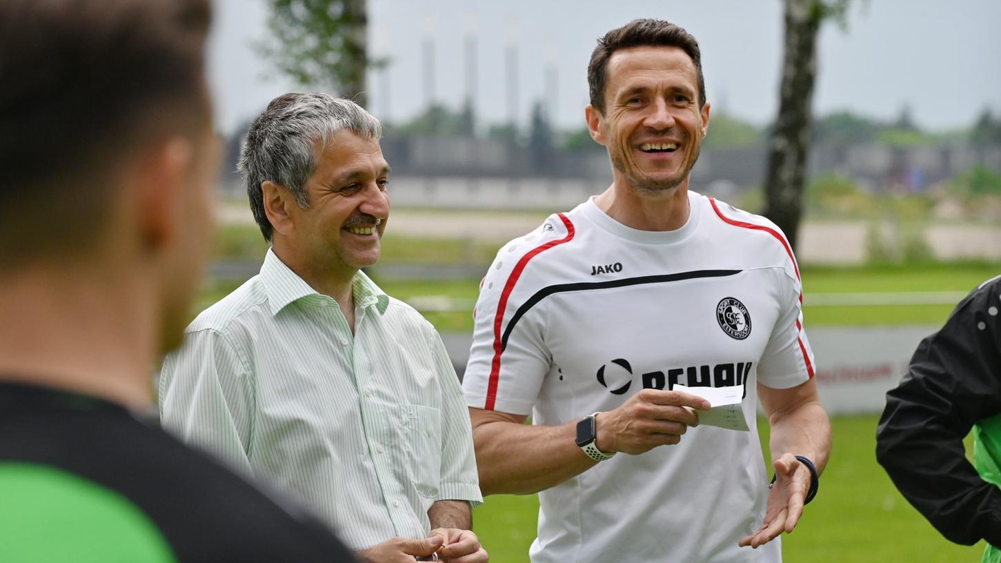 Zwei Macher des Eltersdorfer Erfolgs: Manager Joachim Uhsemann (li.) und Trainer Bernd Eigner.