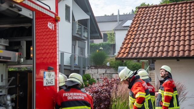 Zu einem Kellerbrand in Deining rückte die Feuerwehr aus.