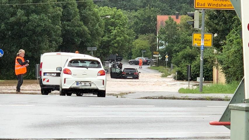 Auch der Landkreis Fürth ist am Freitagvormittag nicht vor dem Regen verschont geblieben.