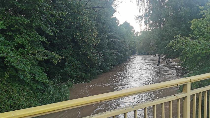 Hochwasser in Ansbach