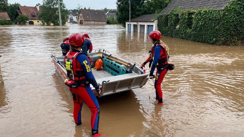 Wilhermsdorf nach der Flut: Die Stromversorgung läuft wieder