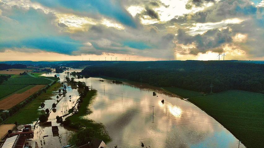 Die Überschwemmungen auch in Raindorf.