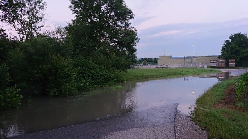 Auch an der Kläranlage kam es zu Überschwemmungen.