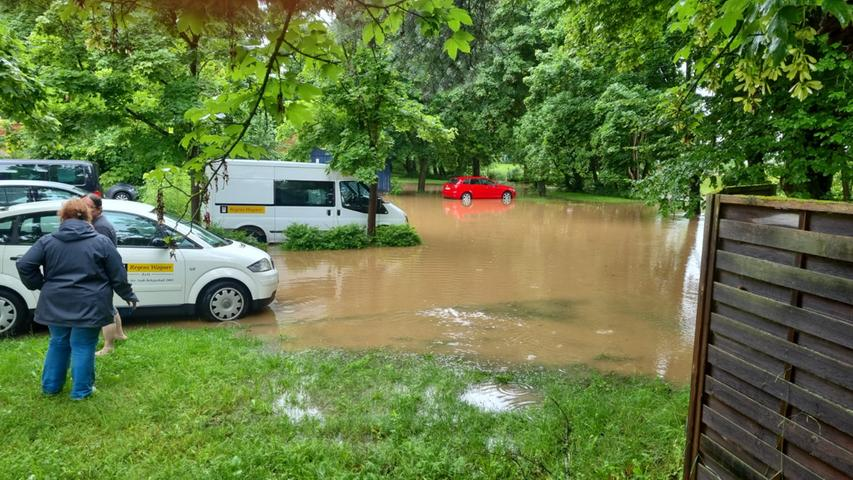 Bei Regens Wagner hat das Wasser größere Schäden verursacht.