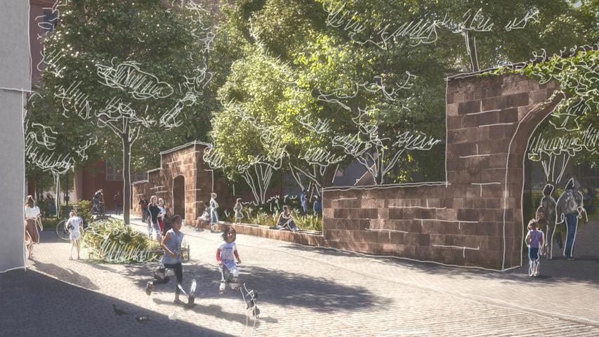 Die Dr-Erich-Mulzer-Straße wird zum Vorzimmer des Parks, dort sollen Bäume gepflanzt und Sitzbänke installiert werden.
