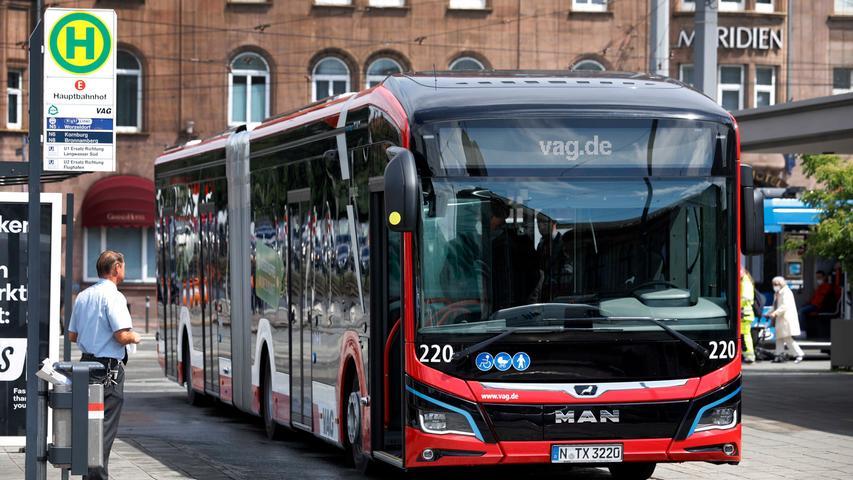 Holzoptik, Lichtbänder, Kameras: Das sind Nürnbergs neue E-Busse