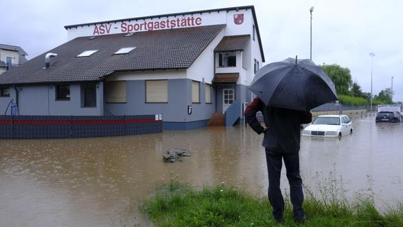 Das Hochwasser im Aischgrund trifft auch die Sportvereine