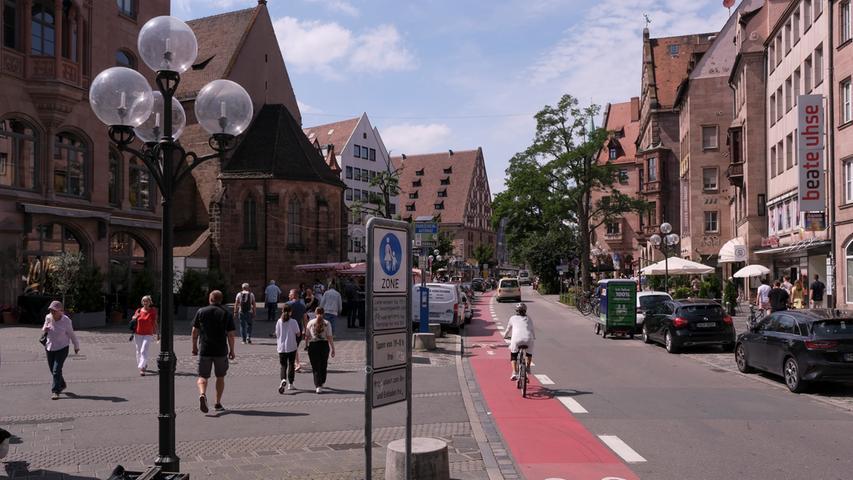 Wird die Königstraße Nürnbergs neue Fußgängerzone? Heute stimmt der Stadtrat ab