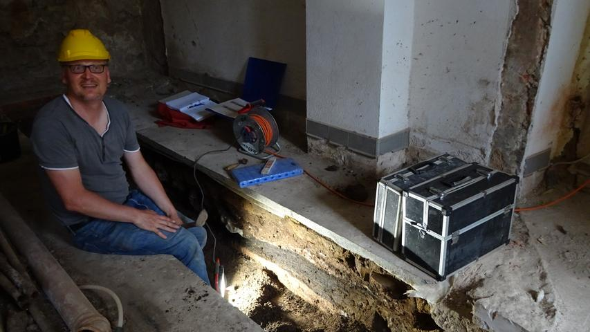 Archäologe Marco Goldhausen ist auch wieder vor Ort.