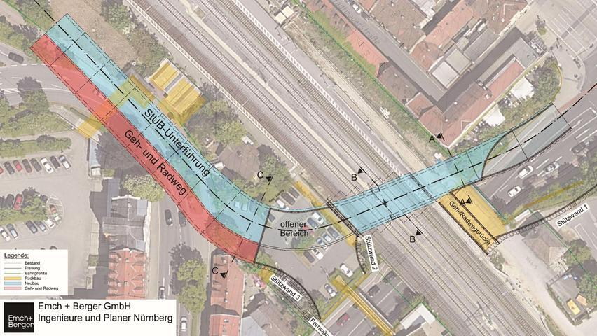 Erlangen: So soll die StUB die Bahn an der Güterhallenstraße unterqueren