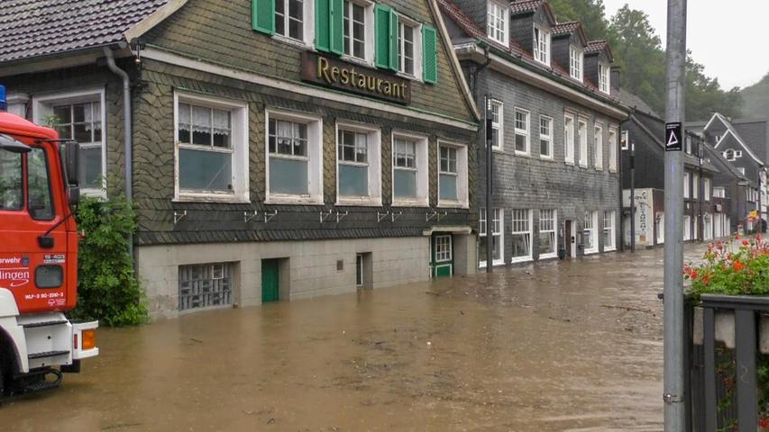 Viele Keller sind überflutet.