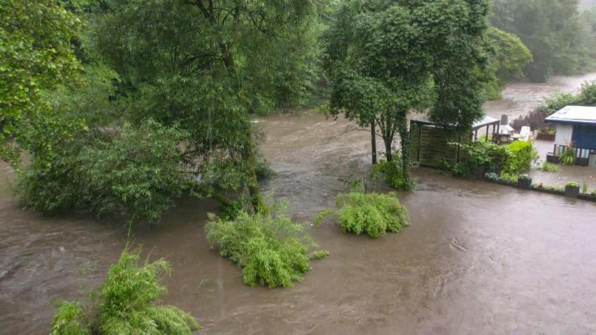 Teilweise sind ganze Gebiete unter Wasser gesetzt.