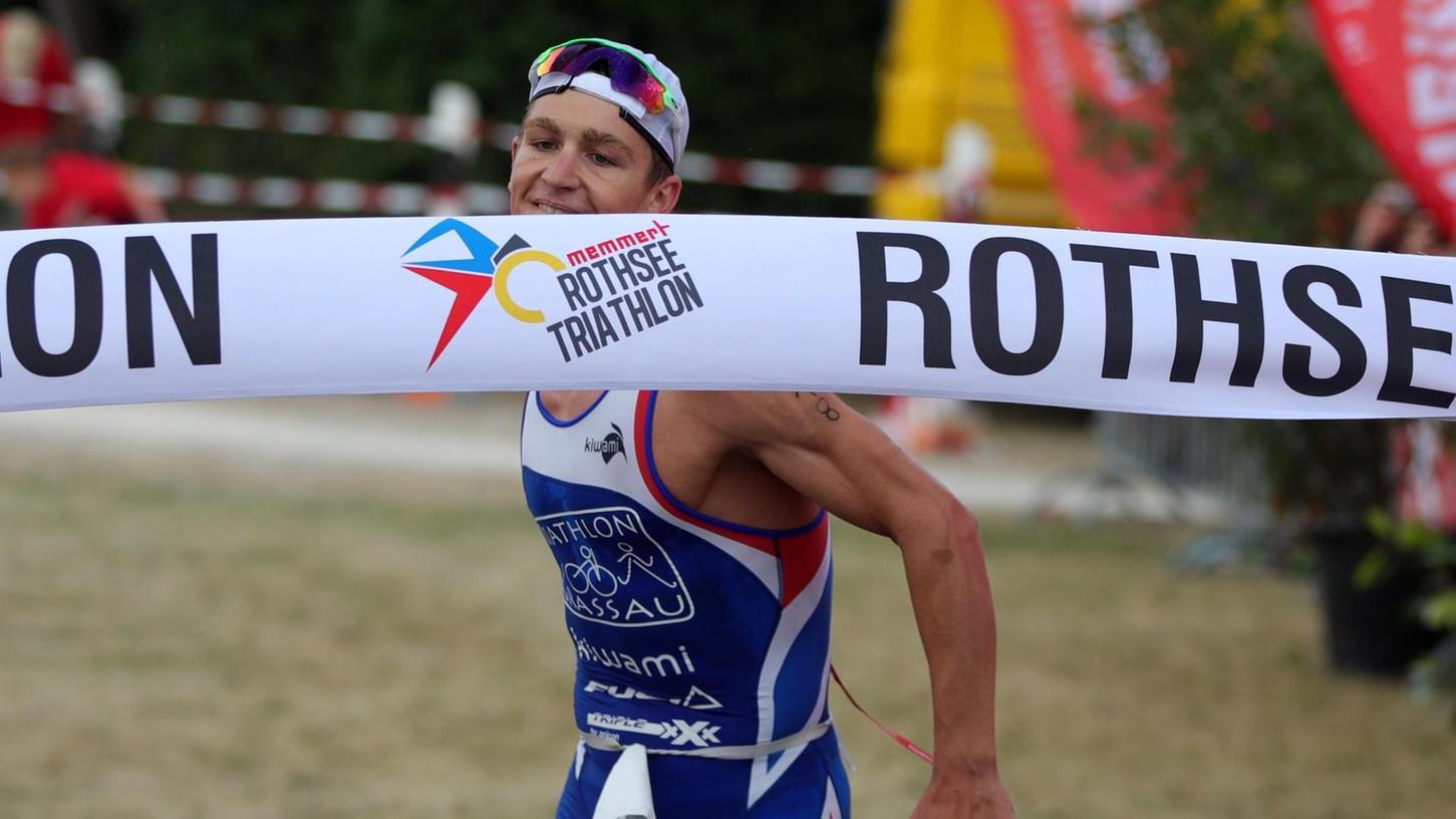 Der in München geborene Frederic Funk will wie 2017 und 2018 den Rothsee-Triathlon als Sieger beenden.