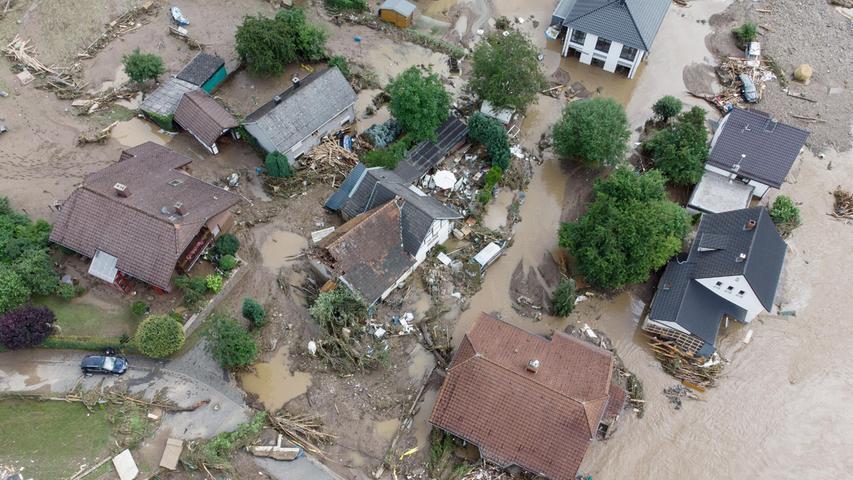 Daskleine Dorf Insulin Rheinland-Pfalz ist weitestgehend überflutet.