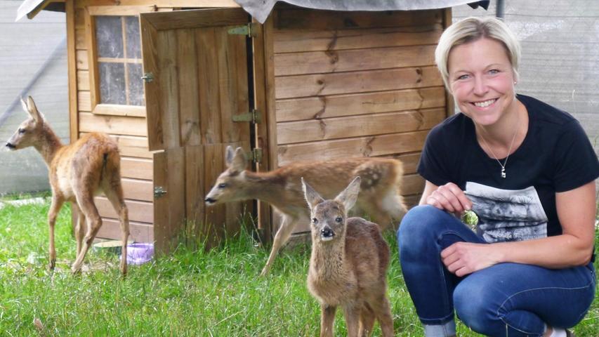 Simone Schmidt mit ihrem größten Sorgenkind.
