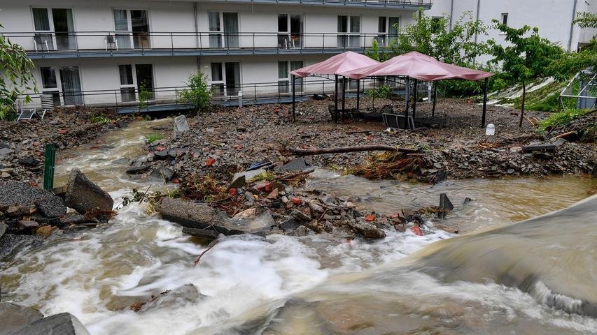 Große Teile von Hagen stehen nach dem Unwetter unter Wasser.