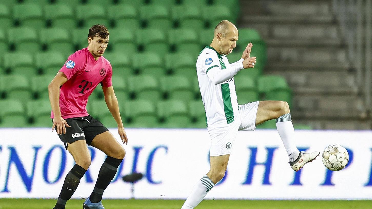Zuletzt verteidigte Justin Hoogma noch gegen Arjen Robben, jetzt soll er mithelfen, das Kleeblatt in der Bundesliga zu halten.