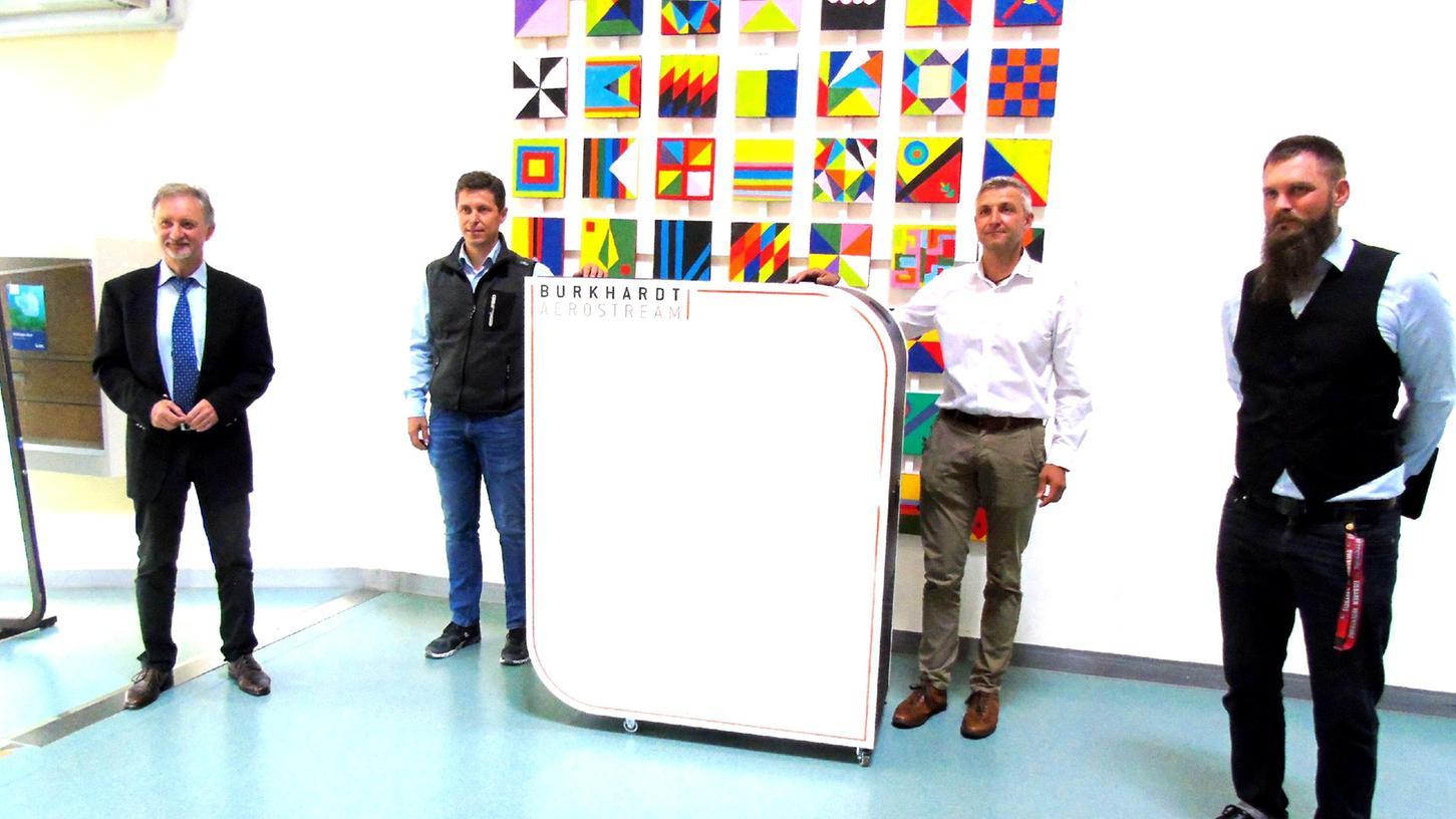 Der Luftreiniger für die Schule in Mühlhausen stammt von dem lokalen Unternehmen Burkhardt.