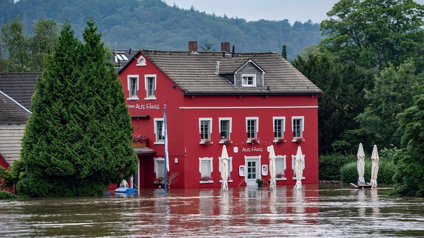 Im Stadtteil Kettwig trat die Ruhr über die Ufer.