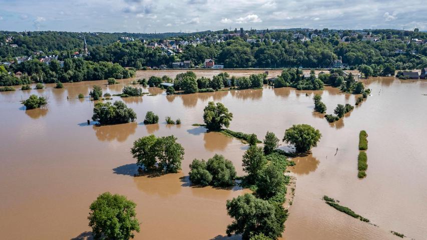 Bei Bochum-Dalhausen gibt es ähnliche Bilder: Auch hier wurde der höchste Pegelstand überhaupt gemessen.