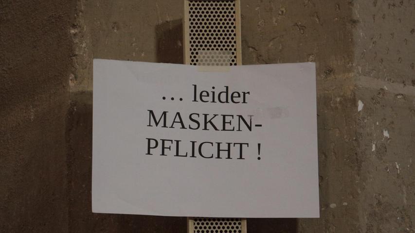 Die Kirche ist halt kein Fußballstadion: Beim Konzert in der evangelischen Kirche in Weißenburg herrschte Maskenpflicht.