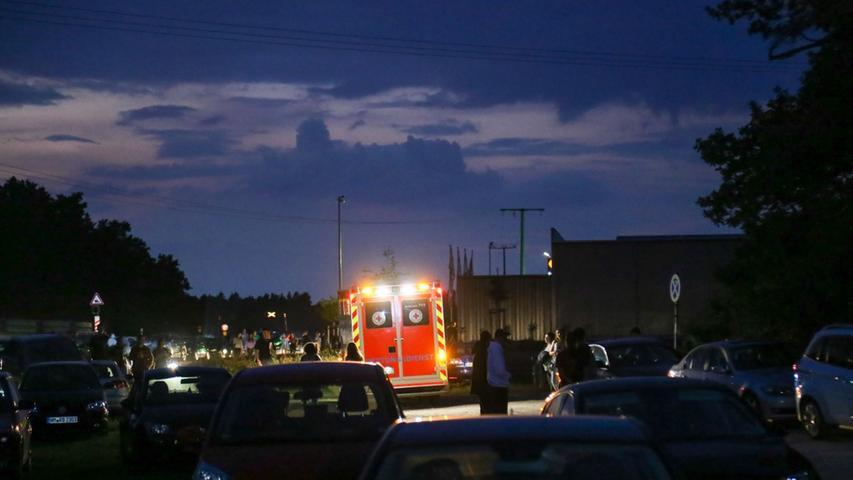 Er kam mit dem Rettungswagen ins Neumarkter Klinikum.