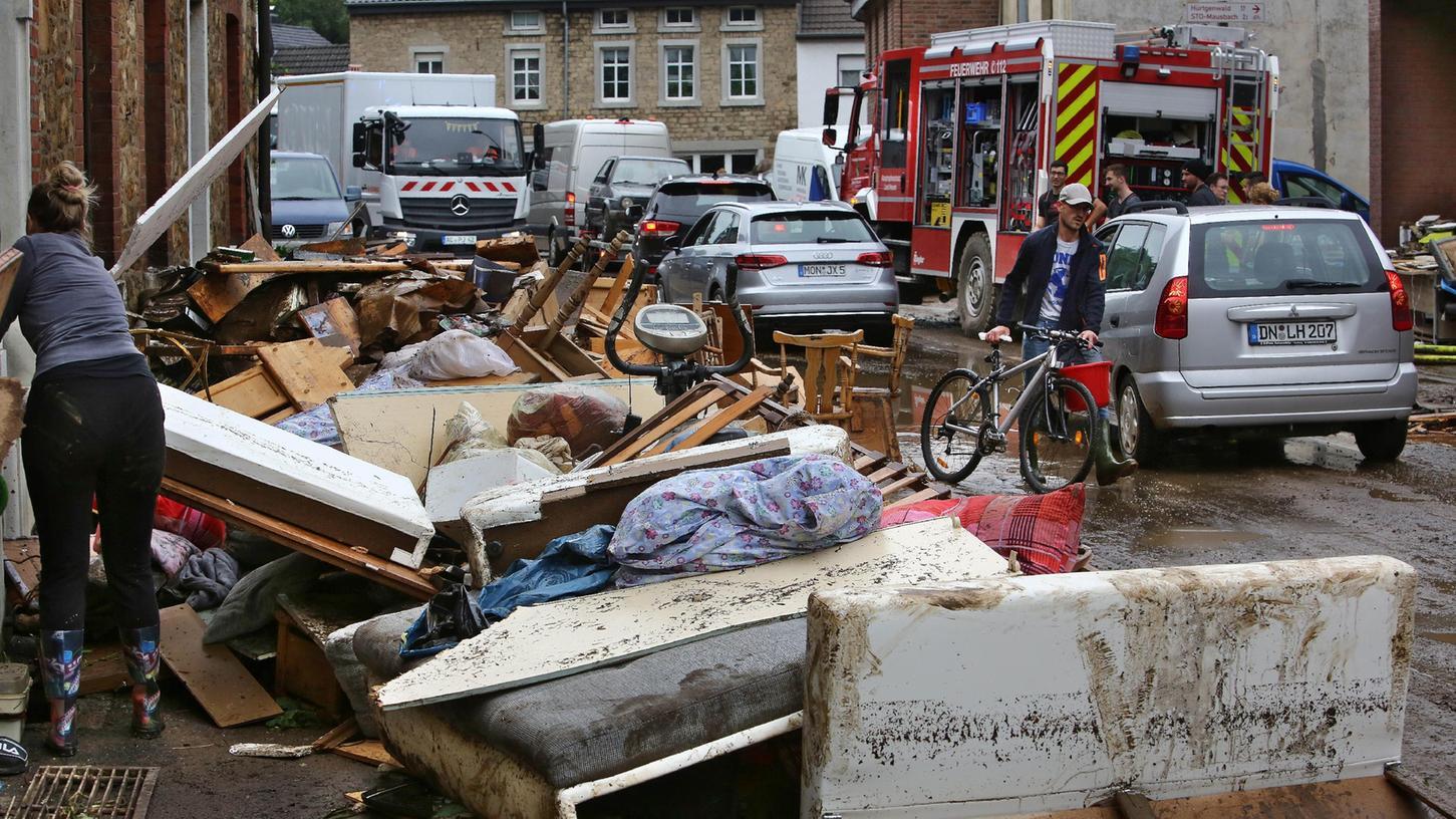Stolberg nahe Köln ist besonders schwer von dem Unwetter getroffen worden.