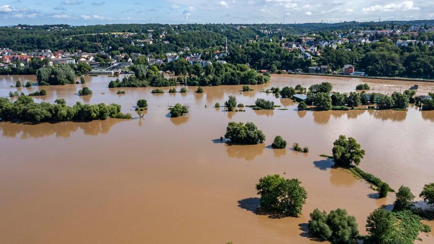 Bilder, die einem Tsunami ähneln. Wie hier in Bochum-Dalhausen.