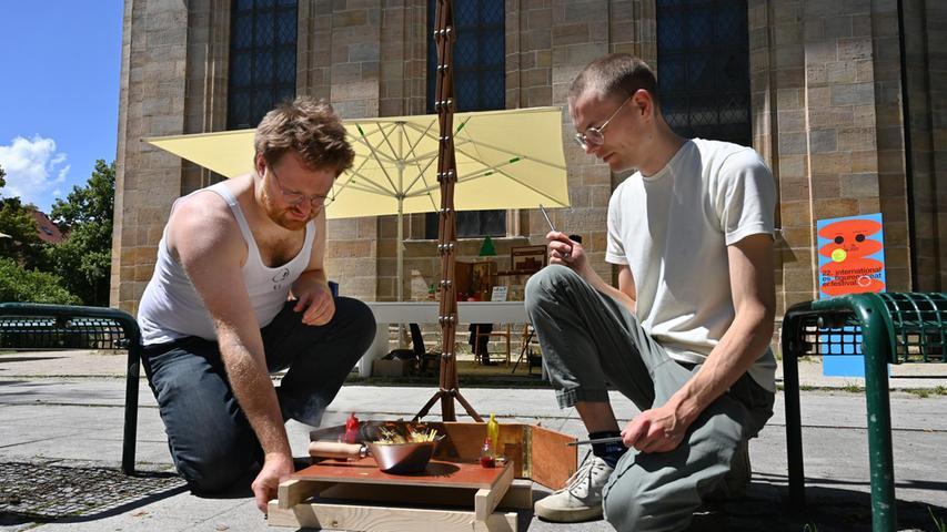 Das Figurentheaterfestival erobert die Innenstadt von Erlangen.