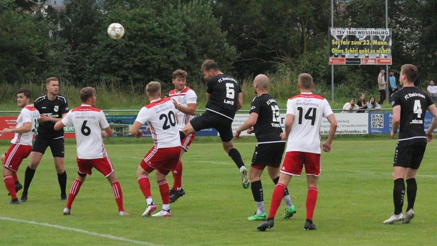 Landesliga Nordost gegen Landesliga Südwest: Der TSV 1860 Weißenburg entschied dieses Testspiel-Duell gegen den FC Ehekirchen mit 2:0 für sich.