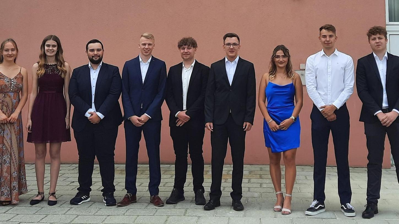 Die Auerbacher Katharina Hofmann (v.li.), Lea Rupprecht, Daniel Wittmann, Julius Weber, Oliver Fritsch, Oliver Diertl, Jule Ixmann, Christoph Lindner, Manuel Reindl.