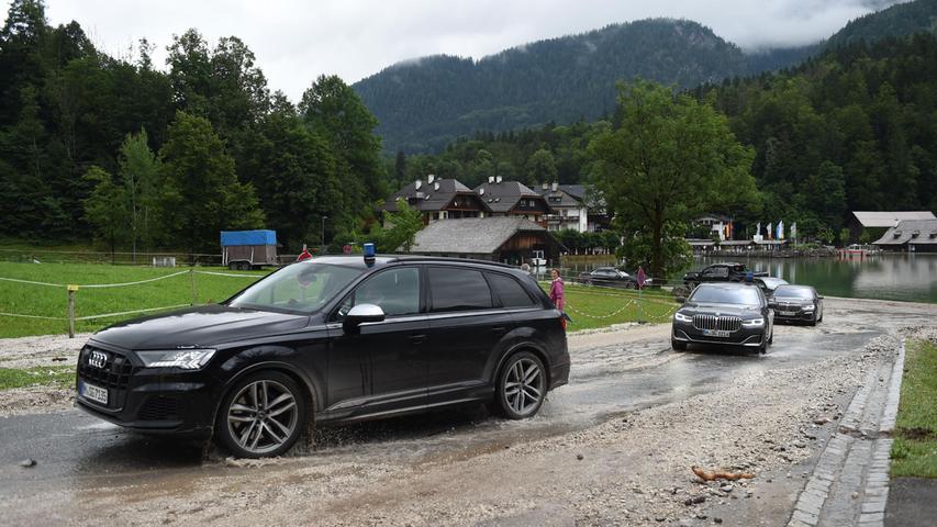 Am Sonntag fuhren unter anderem Markus Söder, Vorsitzender der CSU und bayerischer Ministerpräsident, sowie Olaf Scholz (SPD), Bundesfinanzminister und Kanzlerkandidat, ins Berchtesgadener Land.