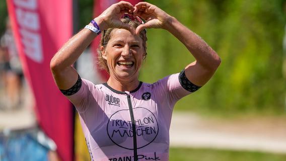 Anja Ippach lebt Mutterglück beim Rothsee-Triathlon aus