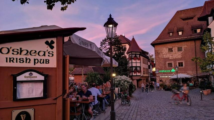Not so much Irish Luck: Das Pub landet auf dem letzten Platz. Irish Beer im Herzen von Nürnberg! In dem Biergarten