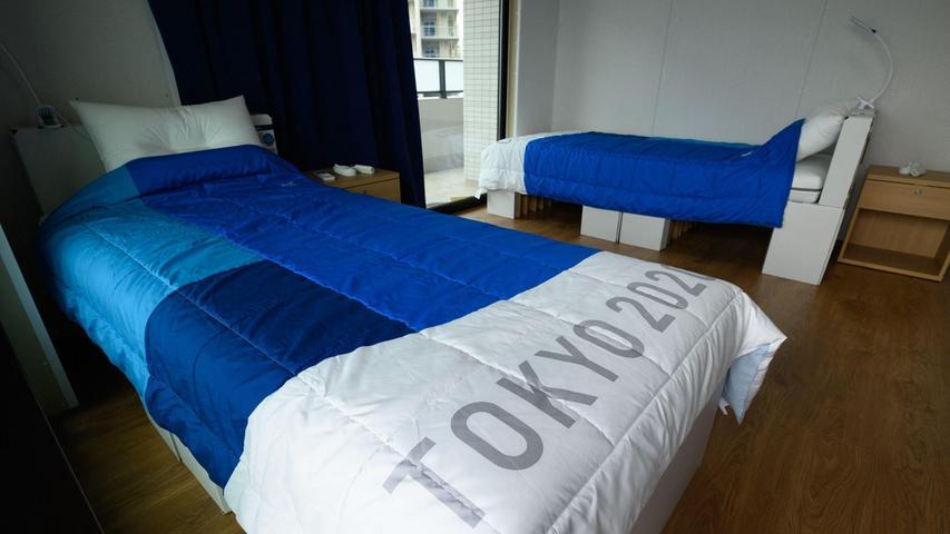 Olympisches Dorf: Betten bestehen den
