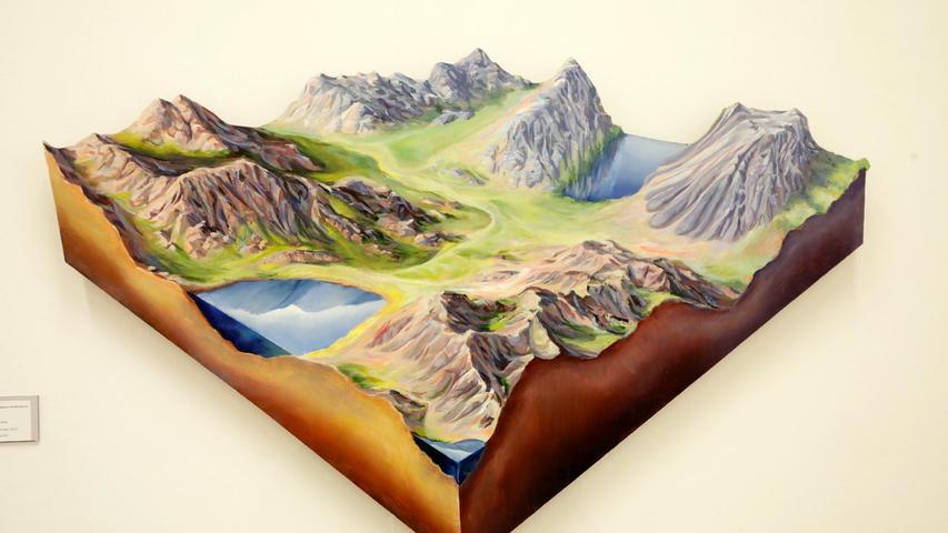 Johannes Kerstings dreidimensionale, aus Holz geschnittene Landschaft