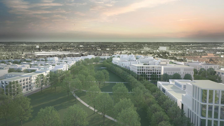 Eine Visualisierung des neuen Stadtteils.