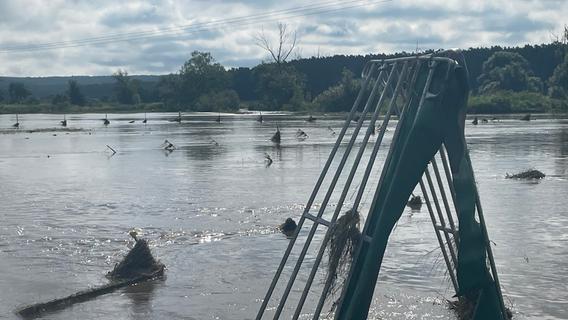Betroffene nach Hochwasser im Aischgrund: