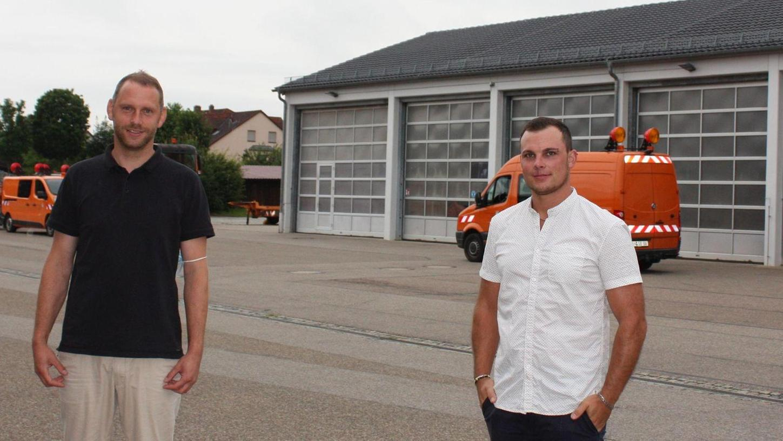 Drei Jahre leitete Markus Seitz (links) die Straßenmeisterei Gunzenhausen, nun wechselt er Anfang August nach Feuchtwangen. Sein Nachfolger ist Matthias Herrmann.