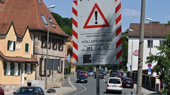 Zur Ferienzeit droht im Norden von Erlangen ein Verkehrschaos