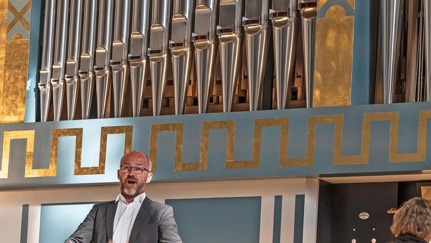 Beim Festkonzert zur Orgelweihe im Juli sang auch der Bass Markus Simon in Sankt Matthäus.