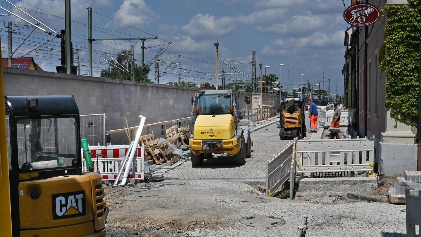 Nach langer Sperrung: Gerbereitunnel in Erlangen ab Anfang August wieder offen