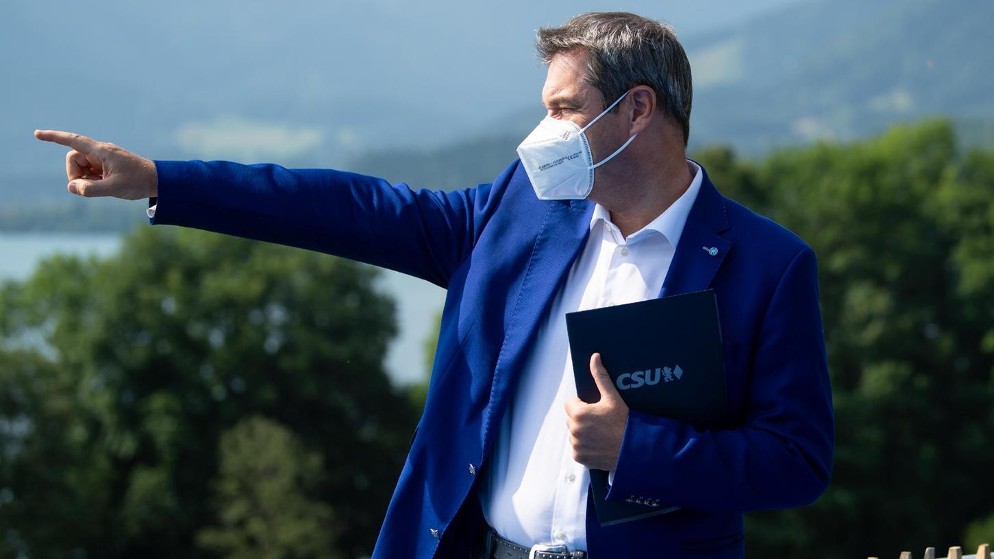 Als CSU-Chef gibt Markus Söder gerne die Richtung vor. Doch die Klausur am Tegernsee soll auch von den eigenen Sorgen ablenken.