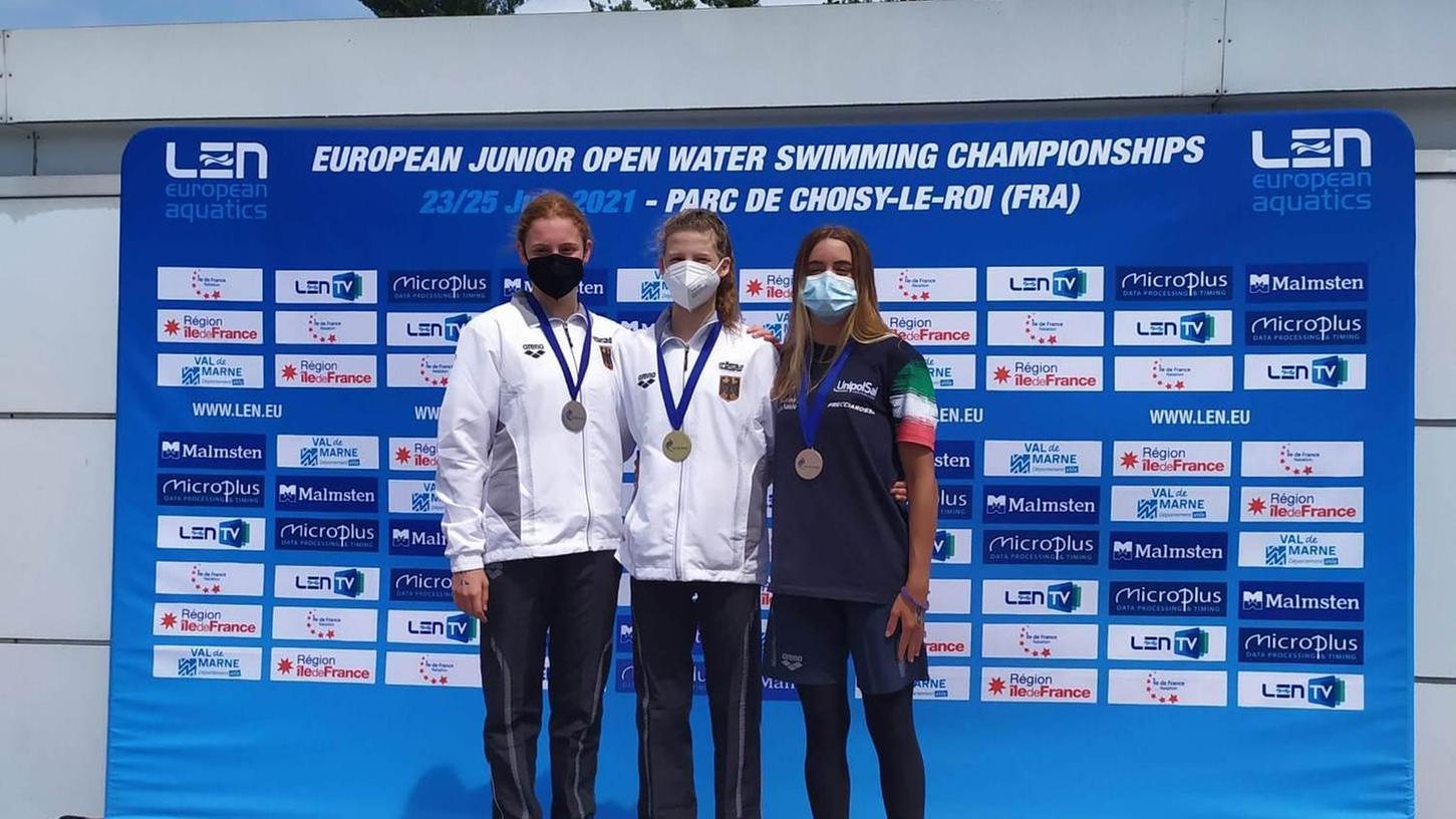 Holte über 5000 Meter Freistil die Goldmedaille: Julia Barth vom TB Erlangen.