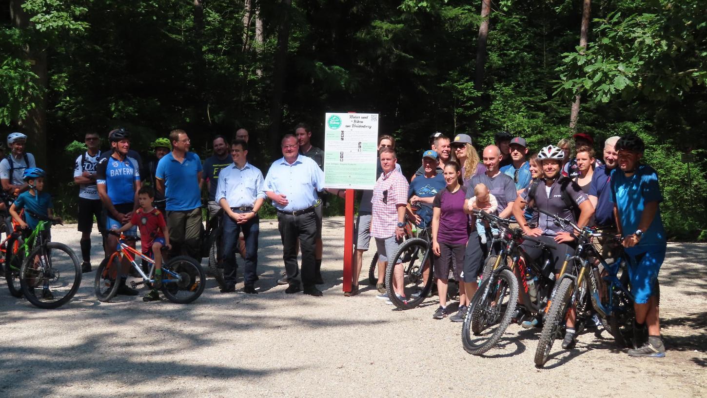 Ein gutes Miteinander mahnen die Mountainbiker für den Heidenberg an.